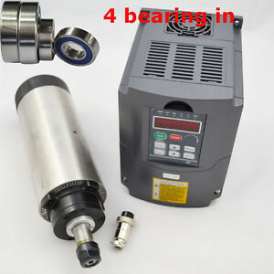 65mm Dia Er11 Four Bearing Air cooled Spindle Motor 0 8kw And Inverter Drive Vfd