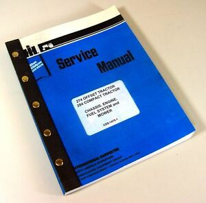 International 274 284 Tractor Service Repair Shop Manual Mower Technical