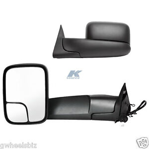 1998 2001 Dodge Ram 1500 1998 2002 Dodge Ram 2500 3500 Power Heated Tow Mirror