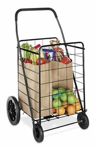 Grocery Shopping Cart Folding Rolling Basket Laundry Hamper Storage Clothes New