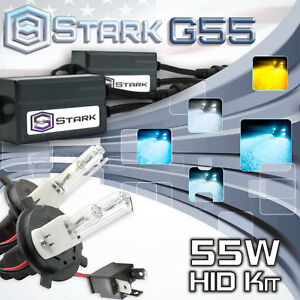 Stark 55w Micro Slim Hid Head Light Xenon Kit Dual Hi Lo H4 Hb2 9003