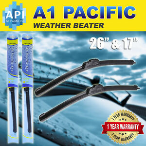 All Season Bracketless J Hook Windshield Wiper Blades Oem Quality 26