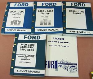 Ford 3400 3500 4400 4500 Industrial Tractor Loader Service Repair