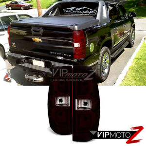07 13 Chevy Avalanche smoke Tinted Left Right Set Rear Brake Tail Lights Lamps