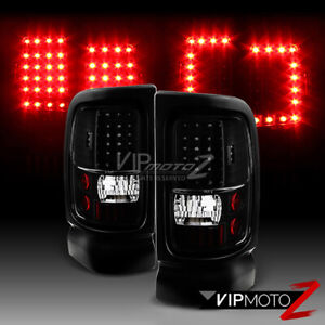 1994 2001 Dodge Ram 1500 2500 3500 Infinity Black Led Brake Signal Tail Lights