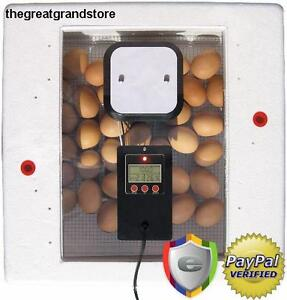Digital Egg Incubator Automatic Still Air Circulated Chicken Farm Mini Fertile