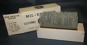 Mil Spec Box Of 1 4w Watt Carbon Comp 5 Resistors 560 Ohm 1000 Pieces