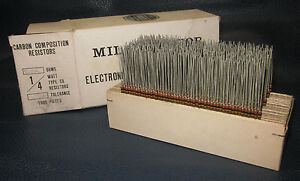 Mil Spec Box Of 1 4w Watt Carbon Comp 5 Resistors 310k Ohm 1000 Pieces