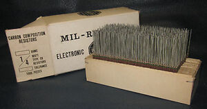 Mil Spec Box Of 1 4w Watt Carbon Comp 5 Resistors 510 Ohm 1000 Pieces