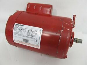 A o Smith Century C242 1 2 Hp 115 230v Special Red Paint Electric Pump Motor
