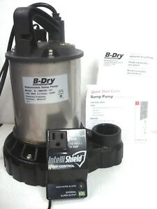 B dry 1 2 Hp Submersible Sump Pump Probe Switch High Water Alarm B dry50 01 Nib