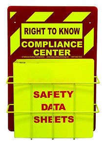 Osha Right To Know Center W 3 Sds Binder Wire Rack Sign formally Msds