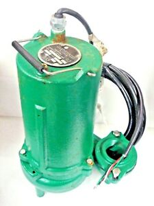 Hydromatic Submersible Sewage Pump 1 2 Hp 575v 3ph 135gpm Skhs50m5 Broken Cord