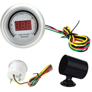 Hs 2 52mm Digital Red Color 20 Led White Air Fuel Ratio Gauge For Car Holder