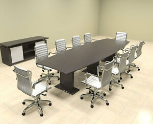 Modern Contemporary Boat Shaped 12 Feet Conference Table mt ste c12
