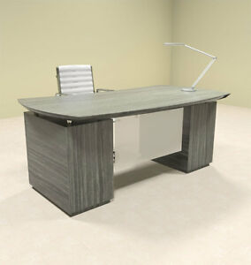 3pc Modern Contemporary Executive Office Desk mt ste d1