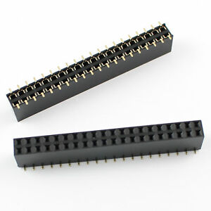 100pcs 2 54mm Pitch 2x20 Pin 40 Pin Female Smt Double Row Pin Header Strip
