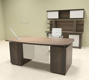 5pc Modern Contemporary Executive Office Desk Set mt ste d8