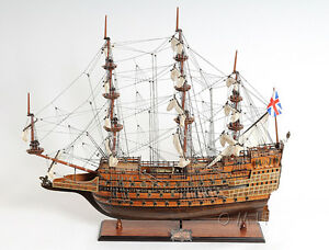 Hms Sovereign Of The Seas 1637 Handmade Wooden Tall Ship Model 29 T076