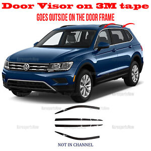 2s Tape Smoke Door Window Vent Visor Deflector6pcs Volkswagen Tiguan 2018 2021