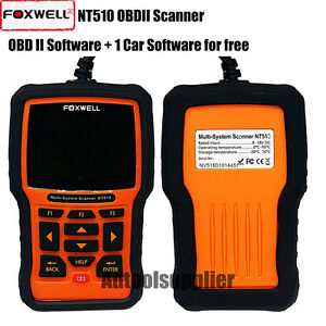 Foxwell Nt510 Full System Diagnostic Scan Reset Tool Srs Epb 1car Software Free