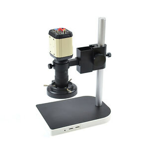 Industry Video Microscope Camera Sethd Kit C mount Lens Led Light Pcb Soldering