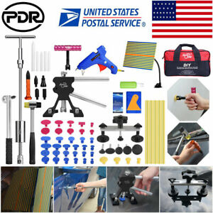 Paintless Dent Repair Puller Lifter Pdr Tools Hail Removal T Bar Hammer Glue Tap