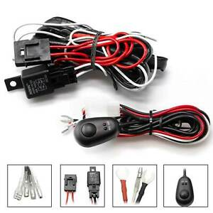 Relay Harness Wire On Off Switch For Led Fog Lights Hid Worklamps Universal