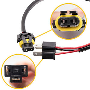 2x 9006 Hb4 To H4 9003 Wire Harness Socket For Retrofit Hid Ballast Conversion