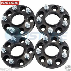 4 20mm 5 Lug Black Hubcentric Wheel Spacers Adapters 5x4 5 For Hyundai Mazda