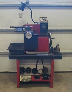 Van Norman 243 One Pass Variable Speed Disc And Drum Brake Lathe W Stand 1