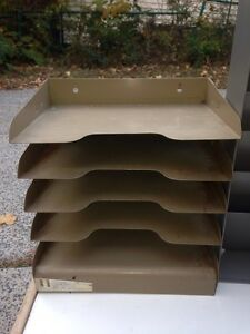 Cool Vintage Metal Industrial Paper letter file sorters Desktop Or Wall Mount