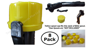8 pack Blitz Rotopax Kolpin Yellow Caps Fits Self venting Gas Can Spout See Pics