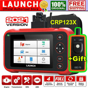 Lifetime Free Updates Launch Creader Crp123 Obd2 Diagnostic Tool Abs Srs Airbag