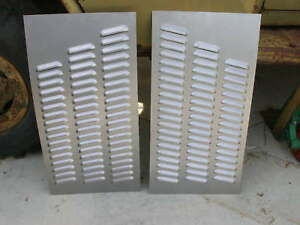 Pair Louvered Hood Panels Hot Rod Gasser 114 Louvers Xj Cherokee By Rodlouvers