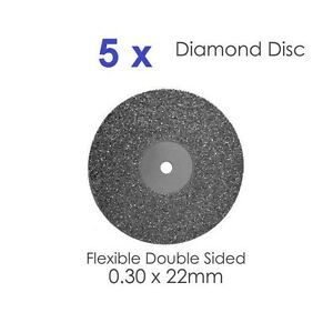 Diamond Disc For Dental Lab Double Sided Disk 0 30 X 22mm X 5 2
