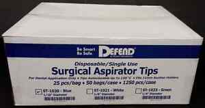 50x Surgical Aspirator Suction Tips Blue Case Of 1250 Pieces 1 16 Dental