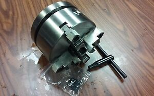 6 4 jaw Self centering Lathe Chuck W Top bottom Jaws W 1 1 2 8 Adapter new