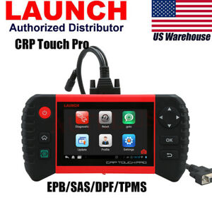 Launch Crp Touch Pro Diagnostic Scan Tool W Bmw Benz Adaptor Oil Sas Dpf Bms
