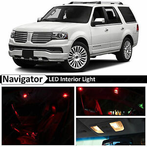 11x Red Interior Led Lights Package Kit For 2007 2016 Lincoln Navigator
