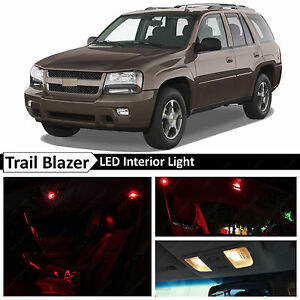10x Red Interior Led Lights Package Kit For 2002 2009 Chevy Trailblazer