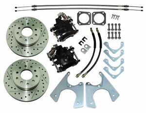 1964 77 Gm 10 12 Bolt Rear Axle End Disc Brake Conversion Kit Slotted Rotors