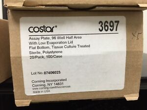 Costar Assy Plete 96 Well With Low Evaporation Lid Flat Bottom 3697
