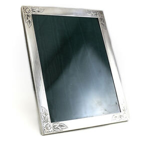 Watrous Mfg Co Sterling Silver Photo Frame 8 5 X 11 5 Hand Engraved Floral C1920