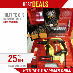 Hilti Te 6 s Drill Good Condition Free Bits Extras Fast Shipping