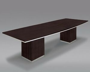 New Pimlico Mocha Modern 8 Boat Shape Conference boardroom meeting Office Table