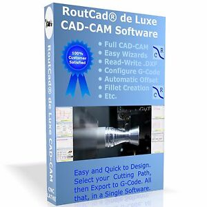 Cad Cam Software Routcad To Generate G code For Mach 3 Emc2 For Cnc Lathe Cdrom