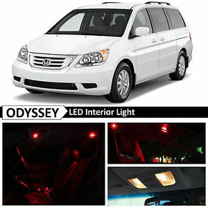 15x Red Interior License Plate Led Light Package Kit Fit 2005 2010 Honda Odyssey