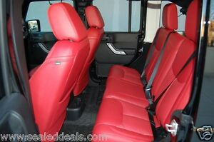 2013 2014 2015 2016 2017 2018 Jeep Wrangler Jk Red Custom Leather Seat Covers