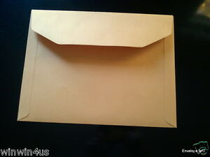 9 X 12 Wallet Flap Document Envelopes Brown Kraft qty 250 Heavy Dut